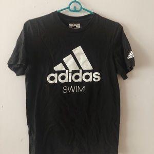Adidas Swim Black Short Sleeve Top
